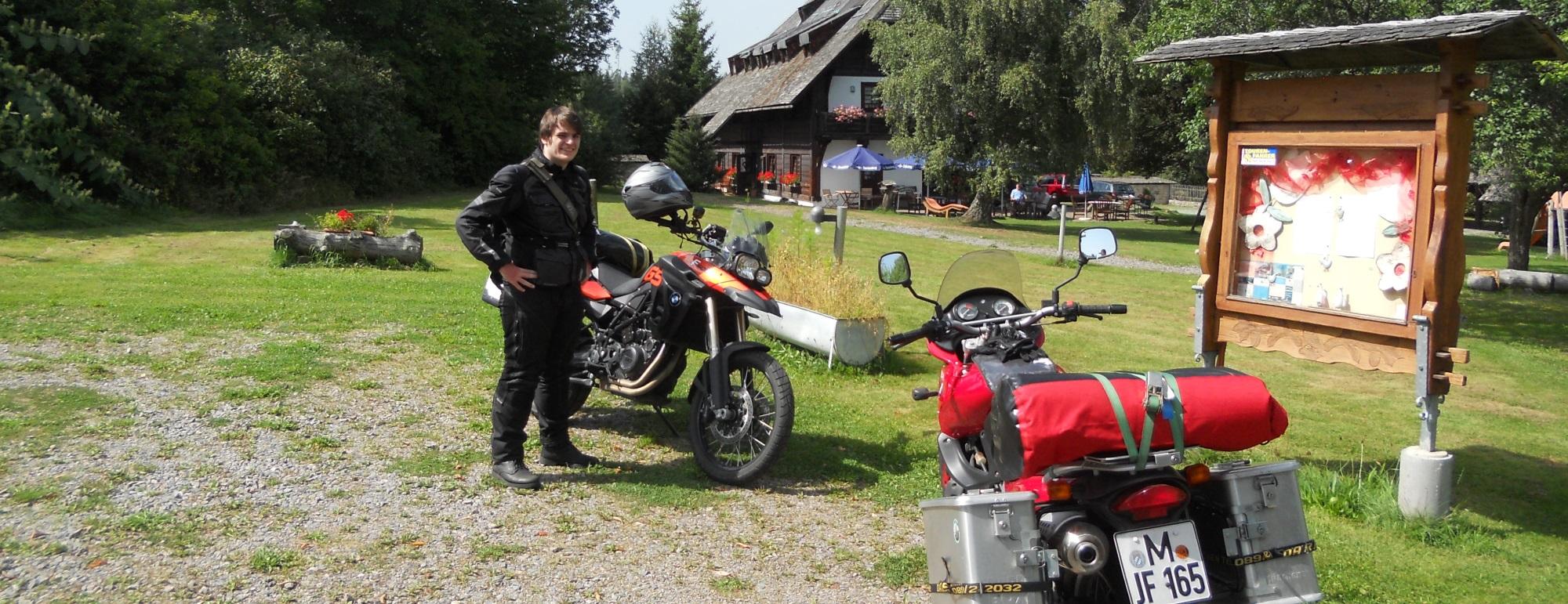 Die erste Rast im Schwarzwald.