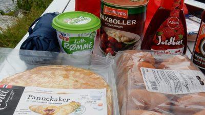 Ausbeute aus dem norwegischen Supermarkt.