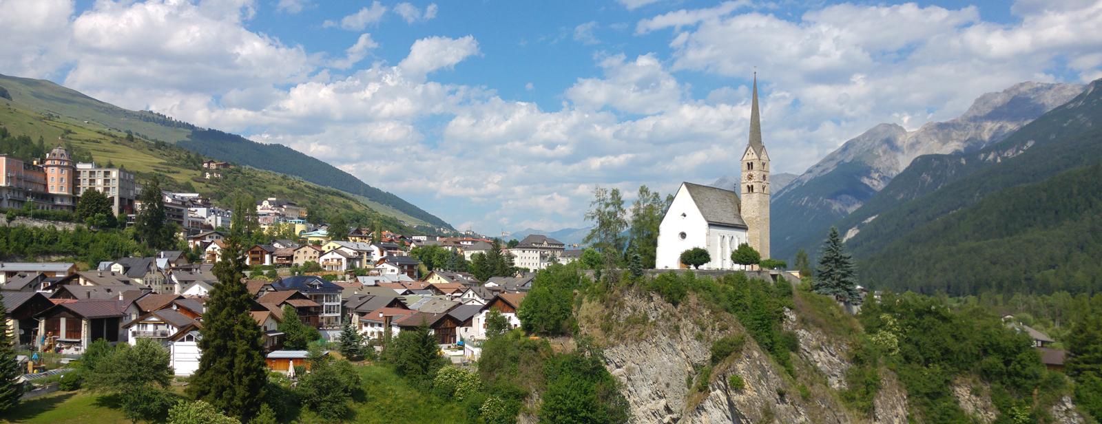 München bis Scuol - Anreise mit Bergsicht