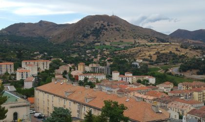 Die Stadt Corte in Korsika